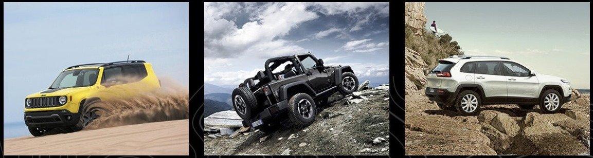 Jeep Wrangler, Jeep Renegade MY19 e Jeep Cherokee.
