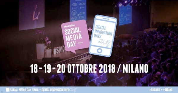 Mashable Social Media Day (#SMDAYIT) + Digital Innovation Days (#DIDAYS) a Milano