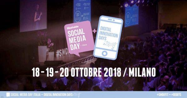 Mashable Social Media Day (#SMDAYIT) + Digital Innovation Days (#DIDAYS) a Milano