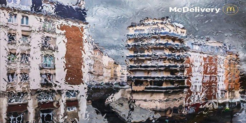 """""""Rain"""" minimalismo impressionista nella nuova campagna di McDonald's"""