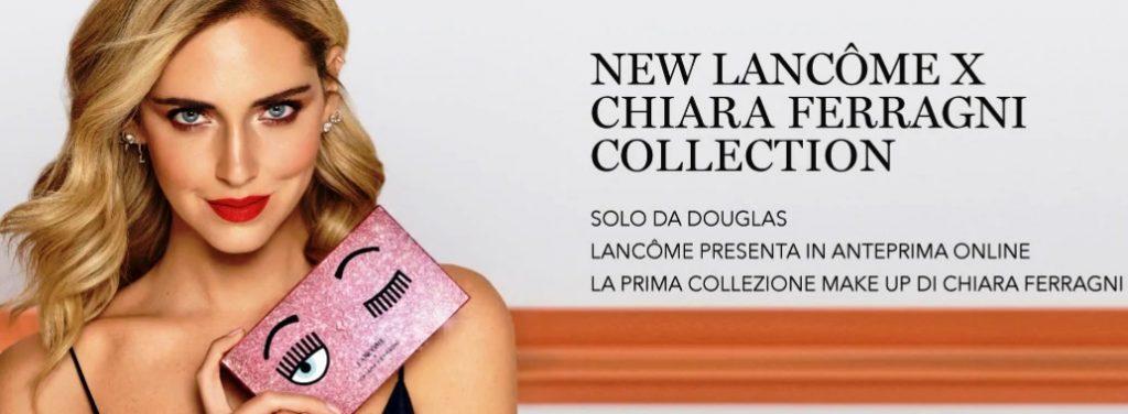 Lancôme e Chiara Ferragni annunciano il lancio della prima collezione make-up, solo da Douglas