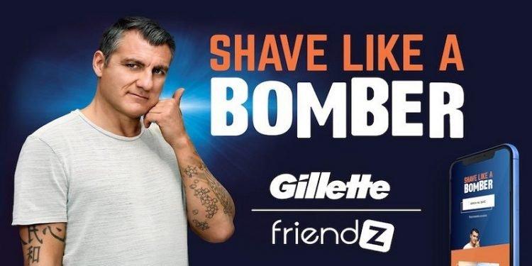 Vieri si fa la barba con Gillette